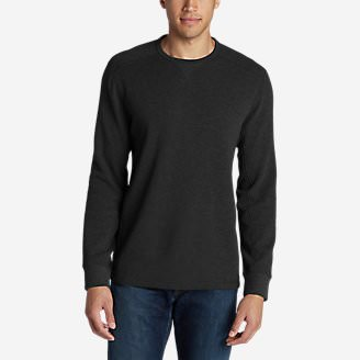 Men's Eddie's Favorite Thermal Crew Shirt in Gray