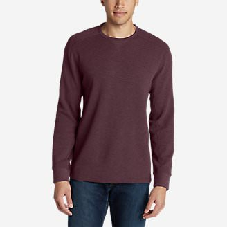 Men's Eddie's Favorite Thermal Crew Shirt in Red