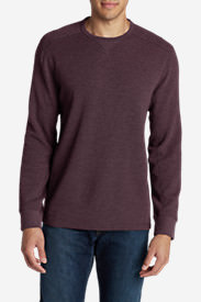 Men's Eddie's Favorite Thermal Crew Shirt in Purple