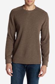 Men's Eddie's Favorite Thermal Crew Shirt in Brown