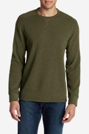 Men's Eddie's Favorite Thermal Crew Shirt in Green
