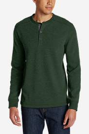 Men's Eddie's Favorite Thermal Henley Shirt in Green