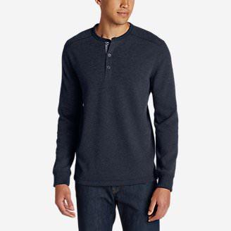 Men's Eddie's Favorite Thermal Henley Shirt in Blue