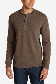 Men's Eddie's Favorite Thermal Henley Shirt in Red