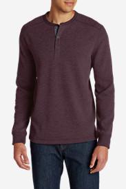 Men's Eddie's Favorite Thermal Henley Shirt in Purple