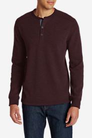 Men's Eddie's Favorite Thermal Henley Shirt in Brown