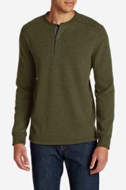 Men's Eddie's Favorite Thermal Henley Shirt in Green