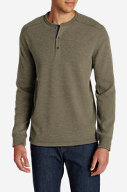 Men's Eddie's Favorite Thermal Henley Shirt in Beige