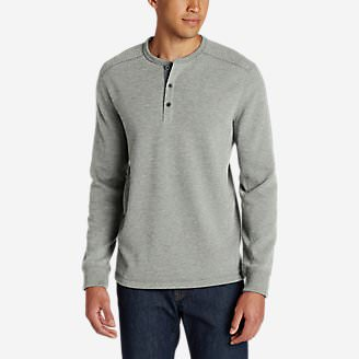 Men's Eddie's Favorite Thermal Henley Shirt in Gray