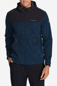 Men's Firelight Hybrid Full-Zip Hoodie II in Blue