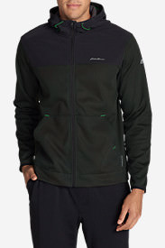 Men's Firelight Hybrid Full-Zip Hoodie II in Gray