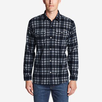 Men's Chutes Microfleece Shirt in Blue