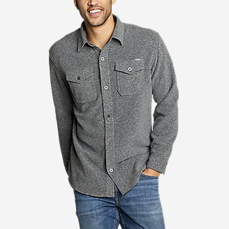 Men's Chutes Microfleece Shirt in Gray