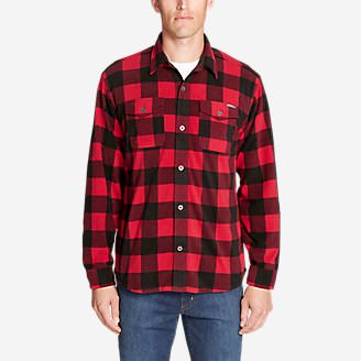 Men's Chutes Microfleece Shirt in Red