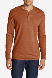 Men's Legend Wash Henley Shirt in Orange