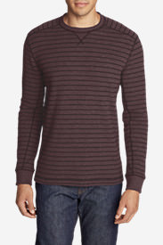 Men's Eddie's Favorite Thermal Crew - Stripe in Red