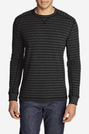 Men's Eddie's Favorite Thermal Crew - Stripe in Gray