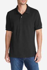Men's Field Short-Sleeve Polo Shirt in Black