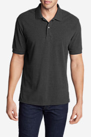 Men's Field Short-Sleeve Polo Shirt in Gray