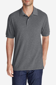 Men's Field Short-Sleeve Polo Shirt in Gray