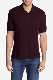 Men's Field Short-Sleeve Polo Shirt in Red