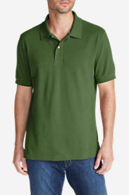 Men's Field Short-Sleeve Polo Shirt in Green