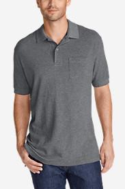 Men's Field Short-Sleeve Pocket Polo Shirt in Gray