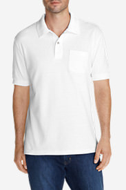 Men's Field Short-Sleeve Pocket Polo Shirt in White