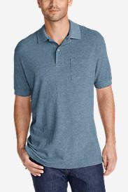 Men's Field Short-Sleeve Pocket Polo Shirt in Blue