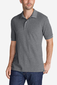 Men's Field Short-Sleeve Polo Shirt - Slim Fit in Gray
