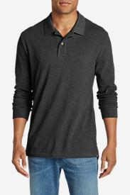 Men's Field Long-Sleeve Polo Shirt in Gray