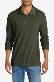 Men's Field Long-Sleeve Polo Shirt in Green