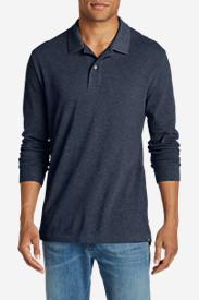 Men's Field Long-Sleeve Polo Shirt in Blue