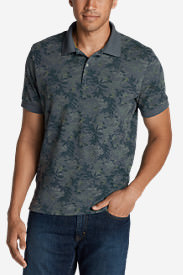 Men's Field Short-Sleeve Slim Polo Shirt - Print in Blue
