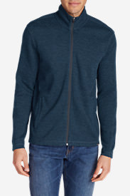 Men's Kachess Full-Zip Mock in Blue