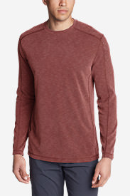 Men's Contour Long-Sleeve Crew in Brown