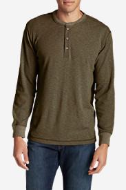 Men's Wapato Long-Sleeve Henley Shirt in Brown