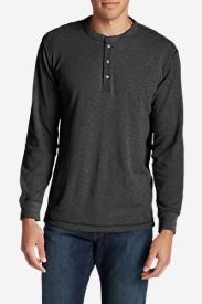 Men's Wapato Long-Sleeve Henley Shirt in Gray