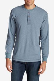 Men's Wapato Long-Sleeve Henley Shirt in Blue