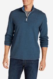 Men's Tieton Reversible 1/4-Zip Pullover in Blue