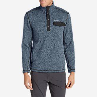 Men's Radiator Fleece Snap Mock Neck in Blue
