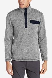 Men's Radiator Fleece Snap Mock Neck in Gray