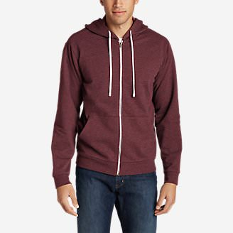 Men's Camp Fleece Full-Zip Hoodie in Red