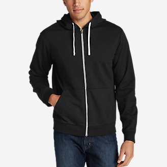 Men's Camp Fleece Full-Zip Hoodie in Black