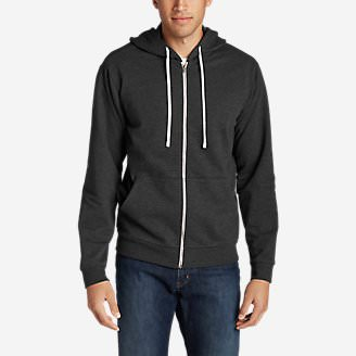 Men's Camp Fleece Full-Zip Hoodie in Gray