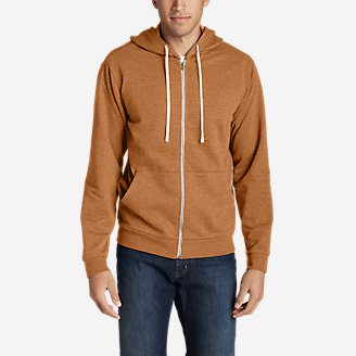 Men's Camp Fleece Full-Zip Hoodie in Brown