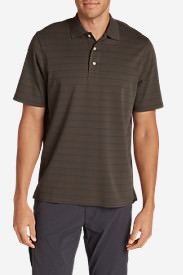 Men's Voyager II Polo Shirt - Stripe in Beige