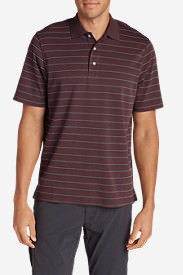 Men's Voyager II Polo Shirt - Stripe in Red