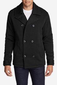 Men's Radiator Fleece Pea Coat in Black