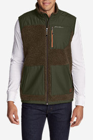 Men's Rangefinder Fleece Vest in Brown